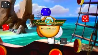 Hardwood Backgammon Title Screen (Xbox 360)