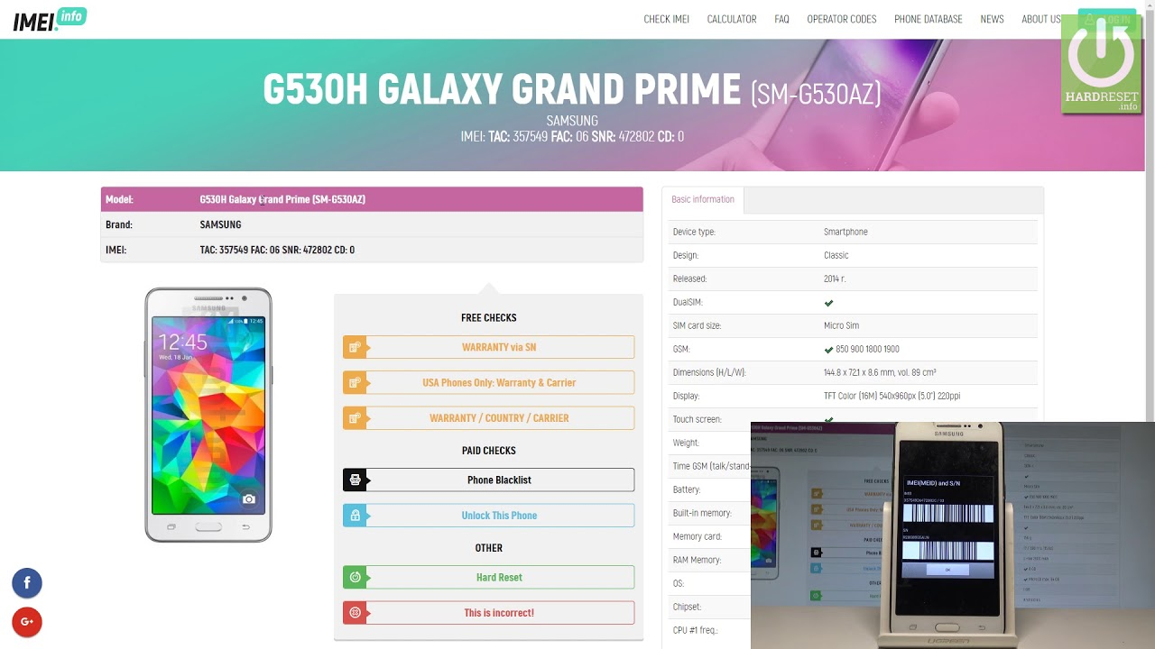 SAMSUNG Warranty / Country / Carrier Check UPDATED - News - IMEI info