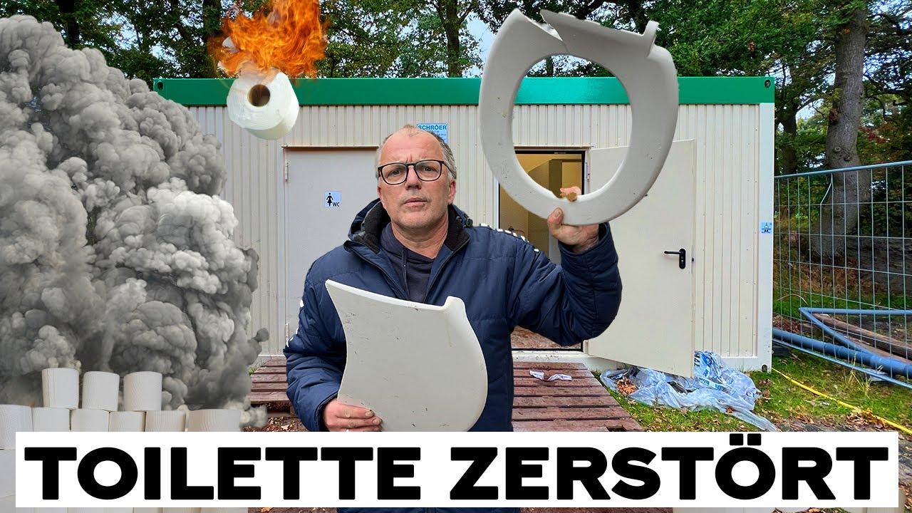 Toilette zerstört und überall K**** !!!   Udo & Wilke