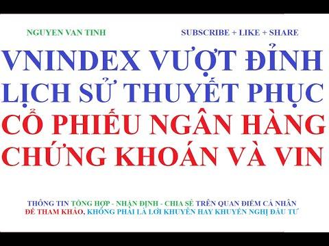 Vnindex Vượt đỉnh lịch sử thuyết phục, cổ phiếu ngân hàng - Chứng khoán và họ Vin tăng mạnh