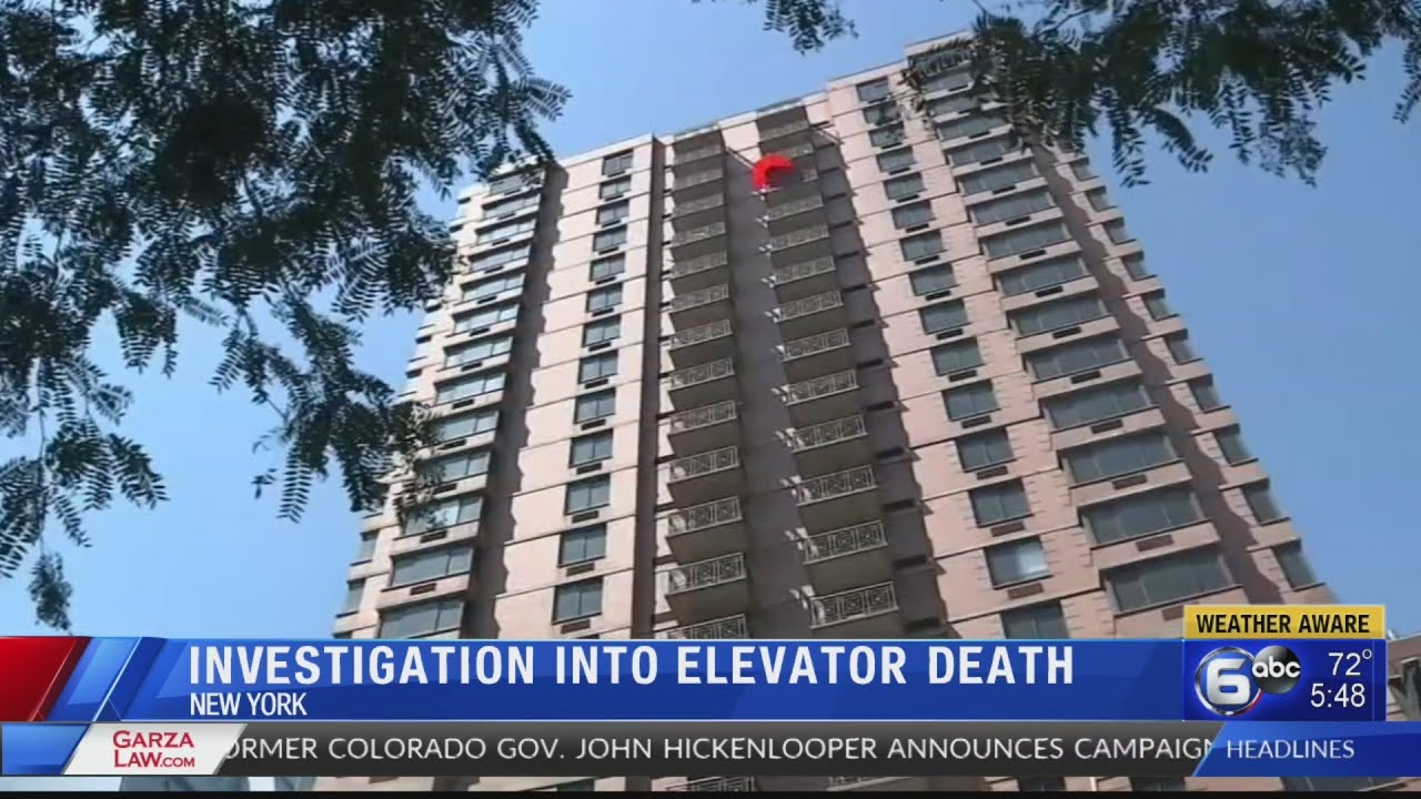 Sam Waisbren elevator death video: Manhattan Promenade