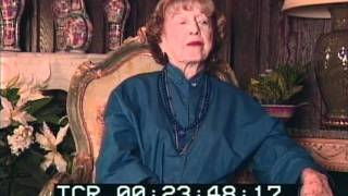 Lillian Burns Sidney MGM head dramatic coach 1996 Interview Part 7 of 9