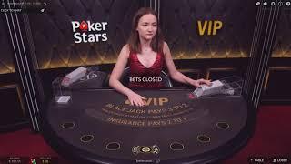 $250 против Живого БлэкДжека с Дилером на ПокерСтарс!Live Dealer BlackJack on PokerStars