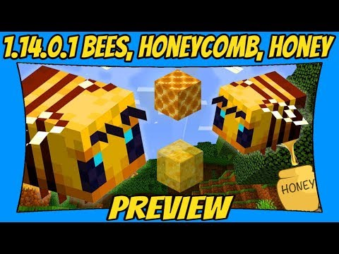 Bees, Honeycombs & Honey Minecraft Beta 1.14.0.1 Update Preview [Minecraft Bedrock Edition] [MCPE]
