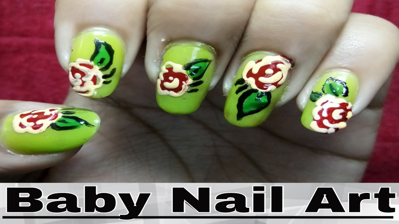 Easy Nail Art Designs Step By Step At Home - Rose Image Nails ...
