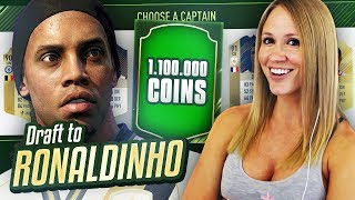 I GOT 1,100,000 COINS!! DRAFT TO RONALDINHO # 24 | FIFA 18