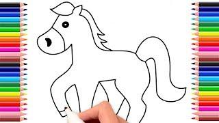 Como dibujar un caballo    Dibujo de caballo   Drawing horse