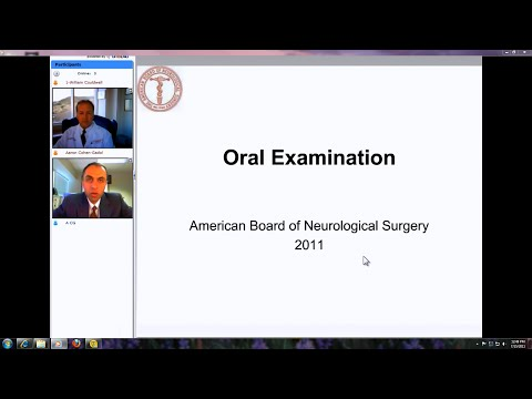 The Oral Boards Part I: Pearls for Success and Review Cases