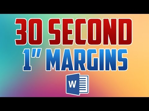 Word 2016 : How To Set 1 Inch Margins