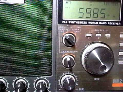 5985kHz China Radio International Swahili : Redsun RP2100 performance on Shortwave