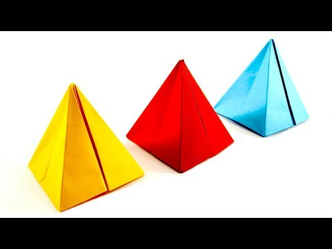 How to make a Paper Pyramid | WITHOUT USING GLUE!!! | Square Pyramid | DIY Easy Origami