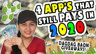 4 Legit Apps That Still Pays In 2020 & Dagdag Baon Giveaways! Watch And Earn