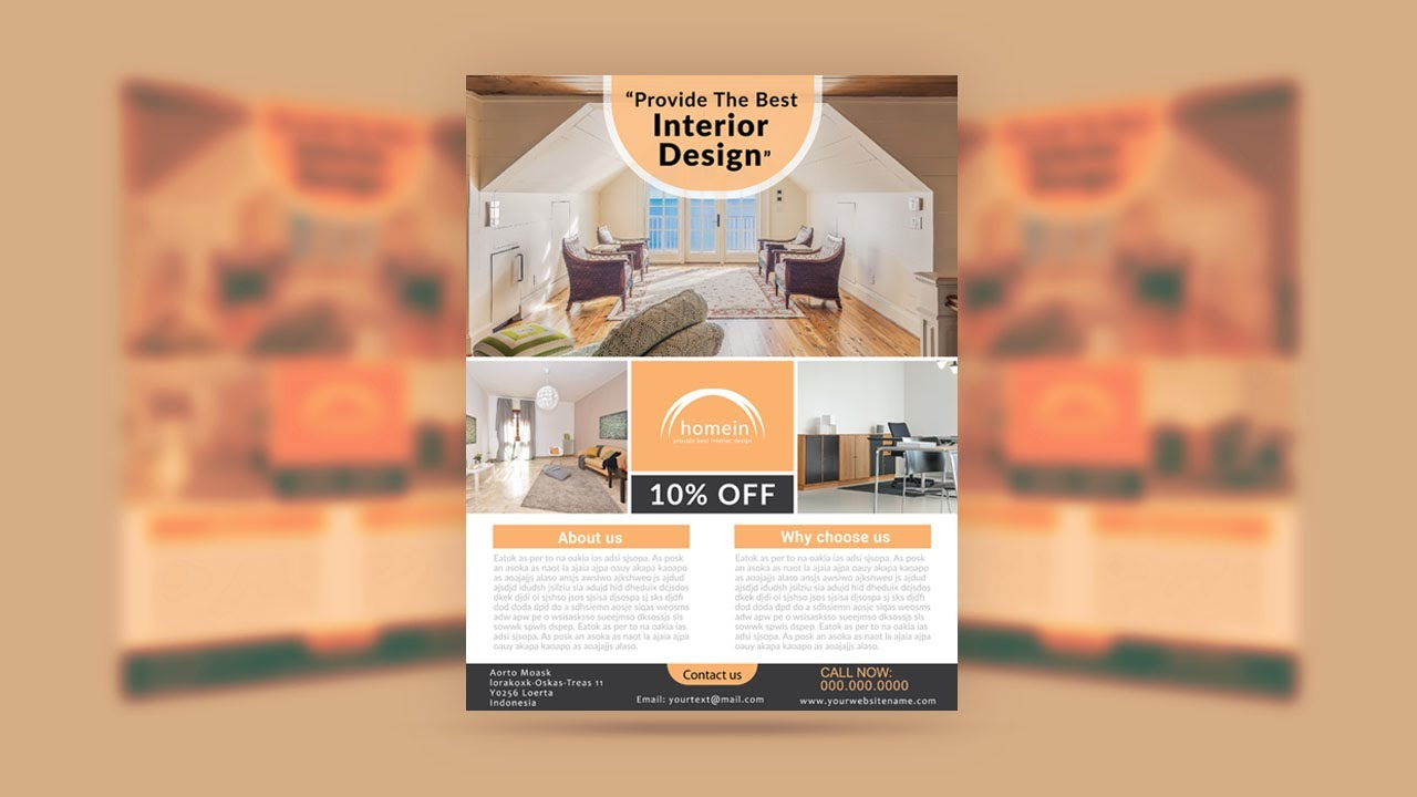 illustrator tutorial interior design flyer youtube