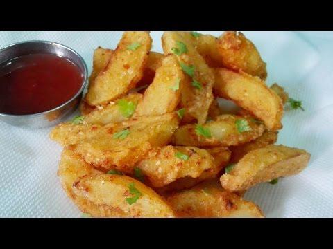 Potato Wedges    Crispy Potato Wedges    Easy Tasty Snack Recipe ( Vegan)