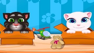 My Talking Tom Level 1 VS My Talking Angela Level 1 Gameplay Great Makeover for Children HD