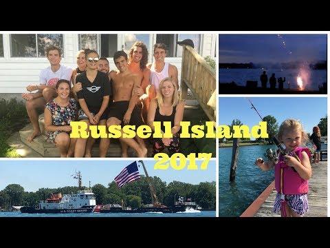 🌞Russell Island 2017 Algonac, MI   Fun at the Cottage!!🌊