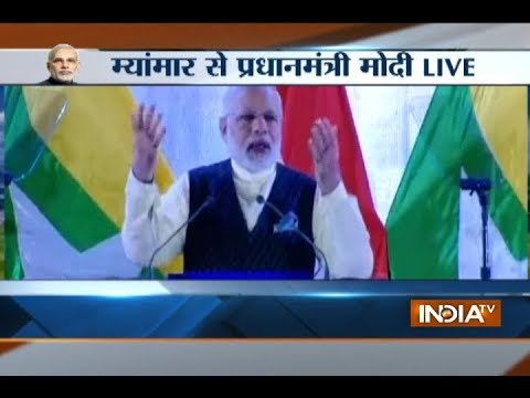 PM Modi addresses Indian community in Myanmar