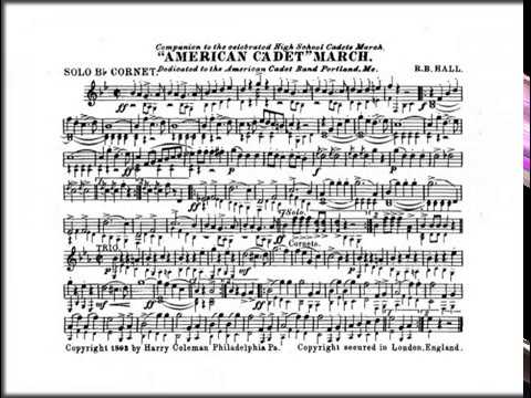 Marching Band Sheet Music - American Cadet March by Robert Browne Hall PDF
