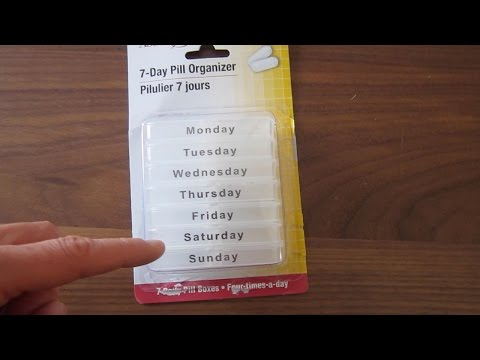 Dollar Tree 7 Day Pill Organizer Product Review