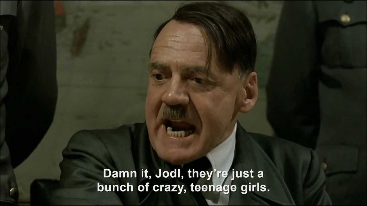 Hitler throws a shoe at Harry Styles