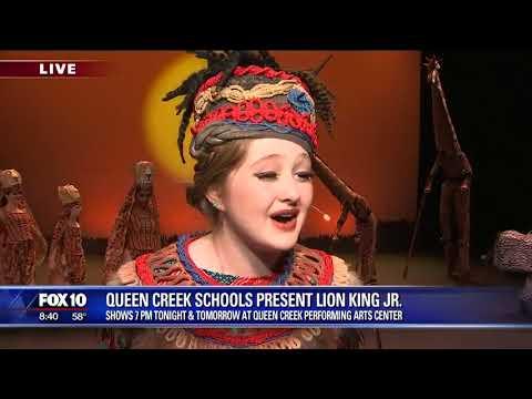 Queen Creek Unified School District presents Lion King Jr.