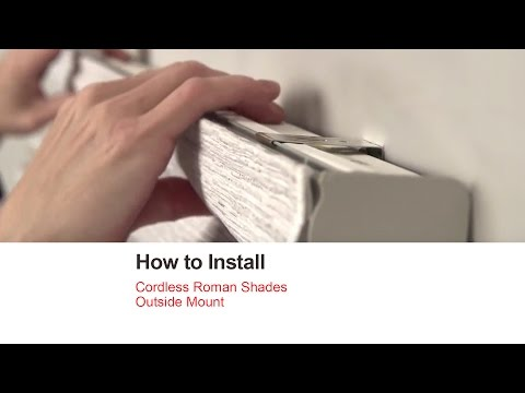 Bali Blinds | How to Install Cordless Roman Shades - Outside Mount