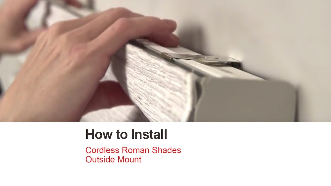 Bali Blinds How To Install Cordless Roman Shades Outside Mount