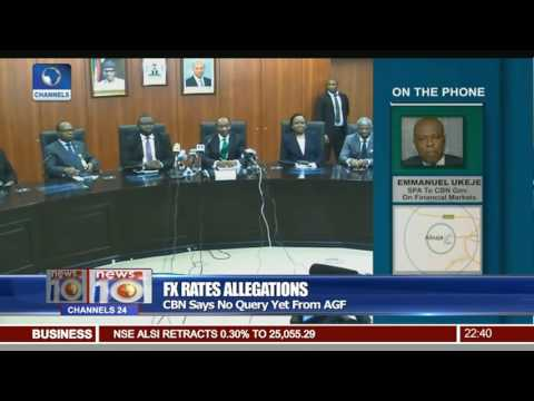 FX Rates Allegations: CBN Says No Query Yet From AGF