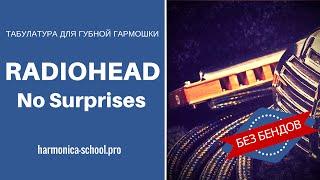 Radiohead - No Surprises. Табы для губной гармошки