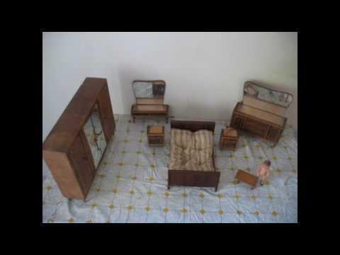 Camera Da Letto Anni 50 60 : Camera da letto per bambole in legno marrone giocattolo anni 50 60