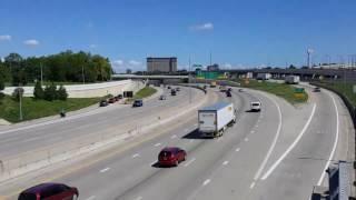 President Donald Trump Motorcade at Freeway