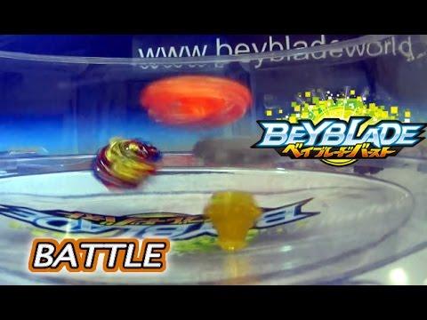 Beyblade Burst ベイブレードバースト B-48 Xeno Xcalibur .M.I  Battle 3 vs B-36 Rising Ragnaruk