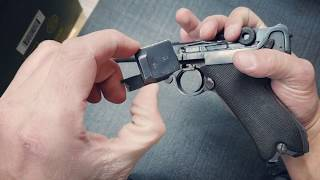 How to disassemble German Luger 9mm P08 German Luger