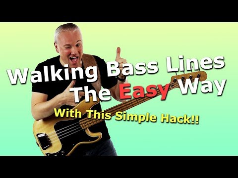 Walking Bass Lines The Easy Way With This Simple Hack!!
