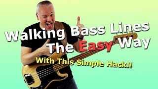 Walking Bass Lines Tнe Easy Way With This Simple Hack!!
