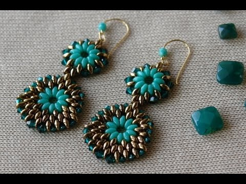 Sidonia's handmade jewelry - Superduo earrings