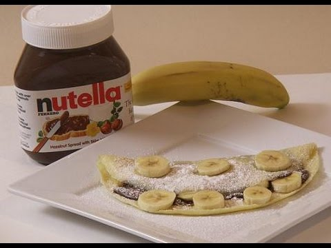 How To Make Nutella Banana Crepes Rossella S Cooking With Nonna Youtube