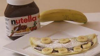 How To Make Nutella Banana Crepes - Italian Recipe By Rossella Rago