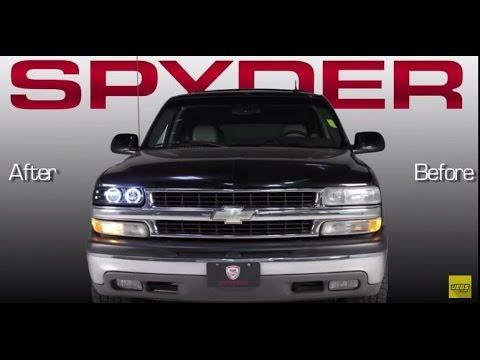 1999-2006 Chevrolet Silverado Suburban Tahoe LED Halo Projector