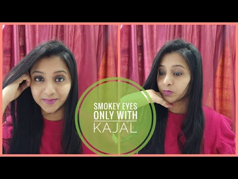 Teenager eye makeup tutorial||Only with kajal||Quick & easy thumbnail