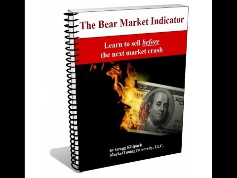 Bear Market Indicator -- how to see a stock market crash in advance