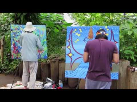 Spirit of the Rainforest Project with Artist John Dyer and Amazon Indian Nixiwaka Yawanawá