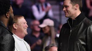 Tom Brady Wearing Black With Mark Davis At UFC Teases Las Vegas Raiders Future