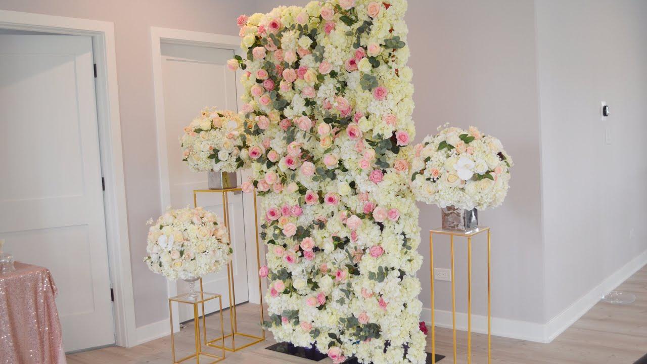 Diy Flower Wall Diy Dollar Tree Foam Board Pool Noodle Flower Wall Diy Luxury Flower Wall Youtube