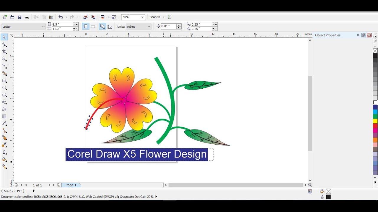 Corel Draw X5 Designing #1 - YouTube