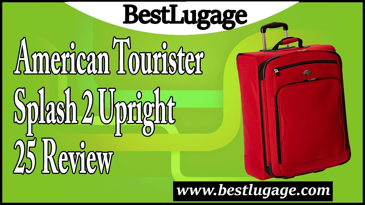 2000cf72ec American Tourister Splash 2 Upright 25 Review - YouTube