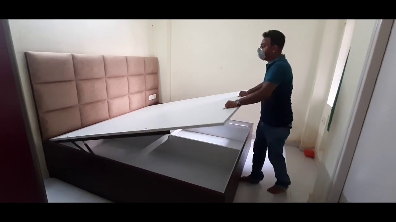 Simple Box Bed Design with Hydraulic Chali  | Queen Box Bed Design Ideas 2020