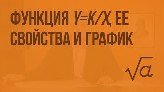 Функция y=k/х, ее свойства и график. Видеоурок по алгебре 8 класс