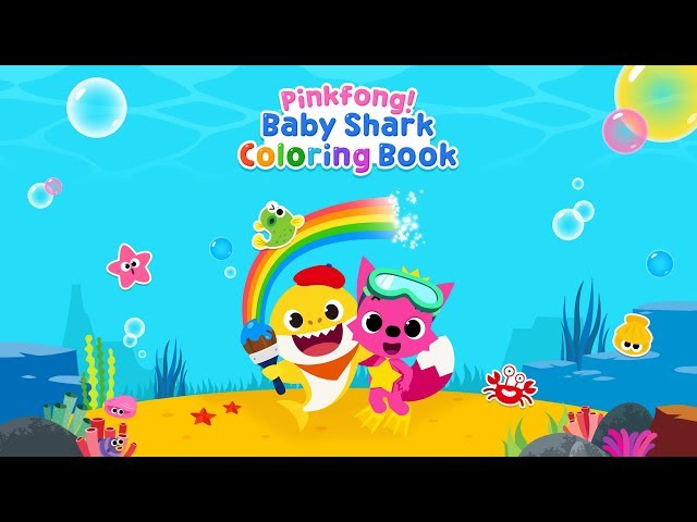 App Trailer Pinkfong Baby Shark Coloring Book Youtube