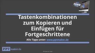 Tastenkombinationen zum Kopieren und Einfügen für Fortgeschrittene-PowerPoint Tipps